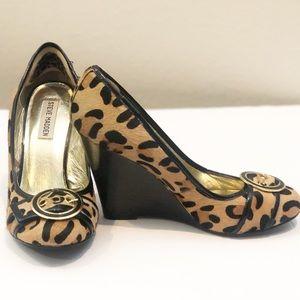 Steve Madden Cheetah Real Calf Wedges S8